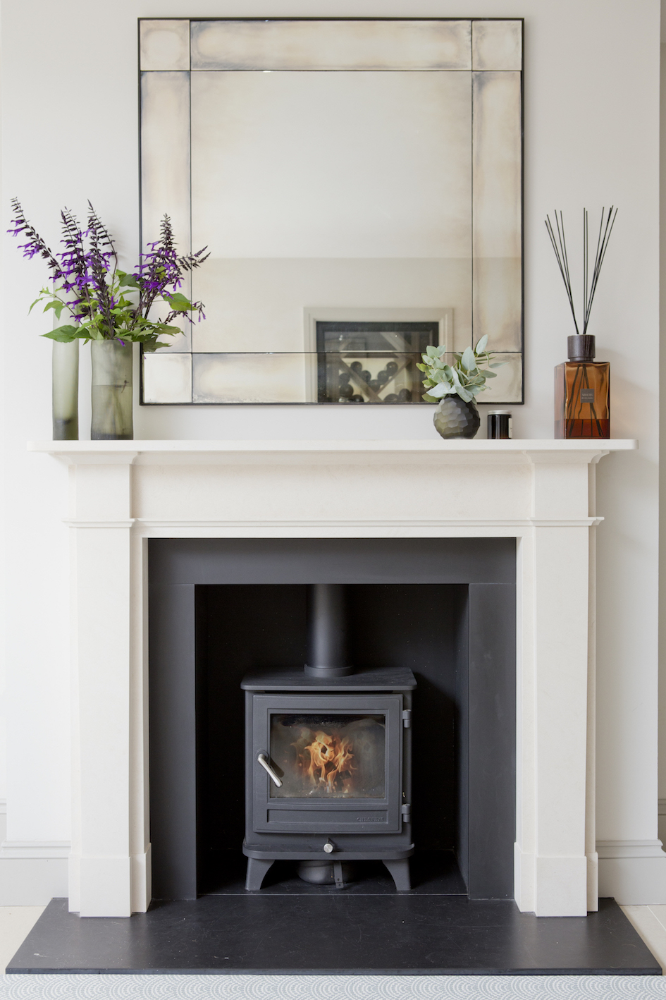 FIreplace at London Extension by Richmond Bell Architects Salisbury