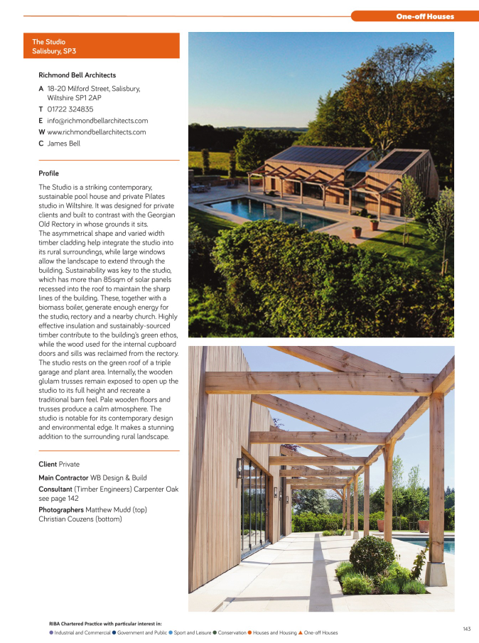 The Studio, Richmond Bell Architects Wiltshire